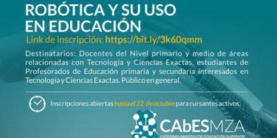 Introducción a la robótica y su uso en educación – CAbESMZA