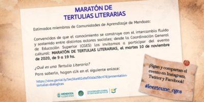 Maratón de Tertulias Literarias