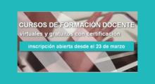 Inscripción a cursos virtuales del INFod destinados a directivos, formadores y docentes